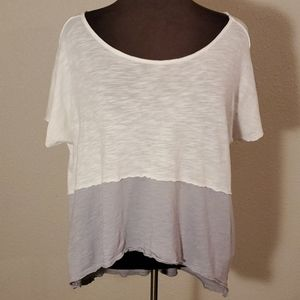 FREE PEOPLE/WE THE FREE Color Block S/S Hi/Lo Top